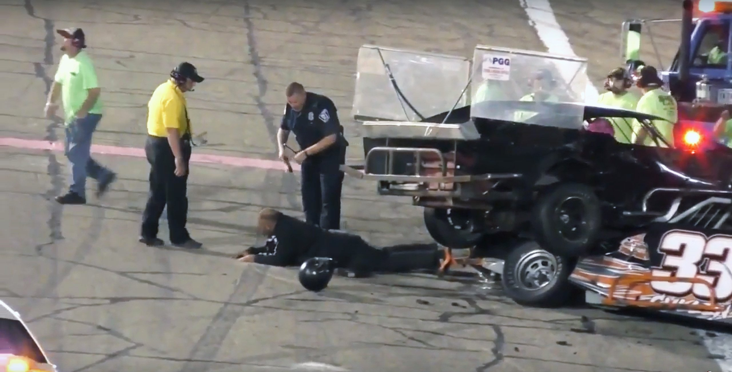 Race car driver tased by Police