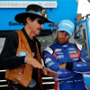 Richard Petty and Bubba Wallace