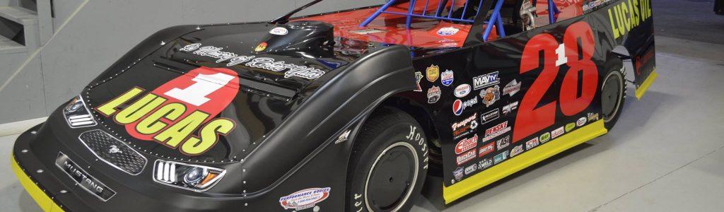 Earl Pearson Jr is running a Robert Yates dirt late model throwback