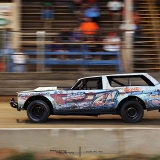 Rustic Race Car Wrap - Belle-Claire Speedway 2619