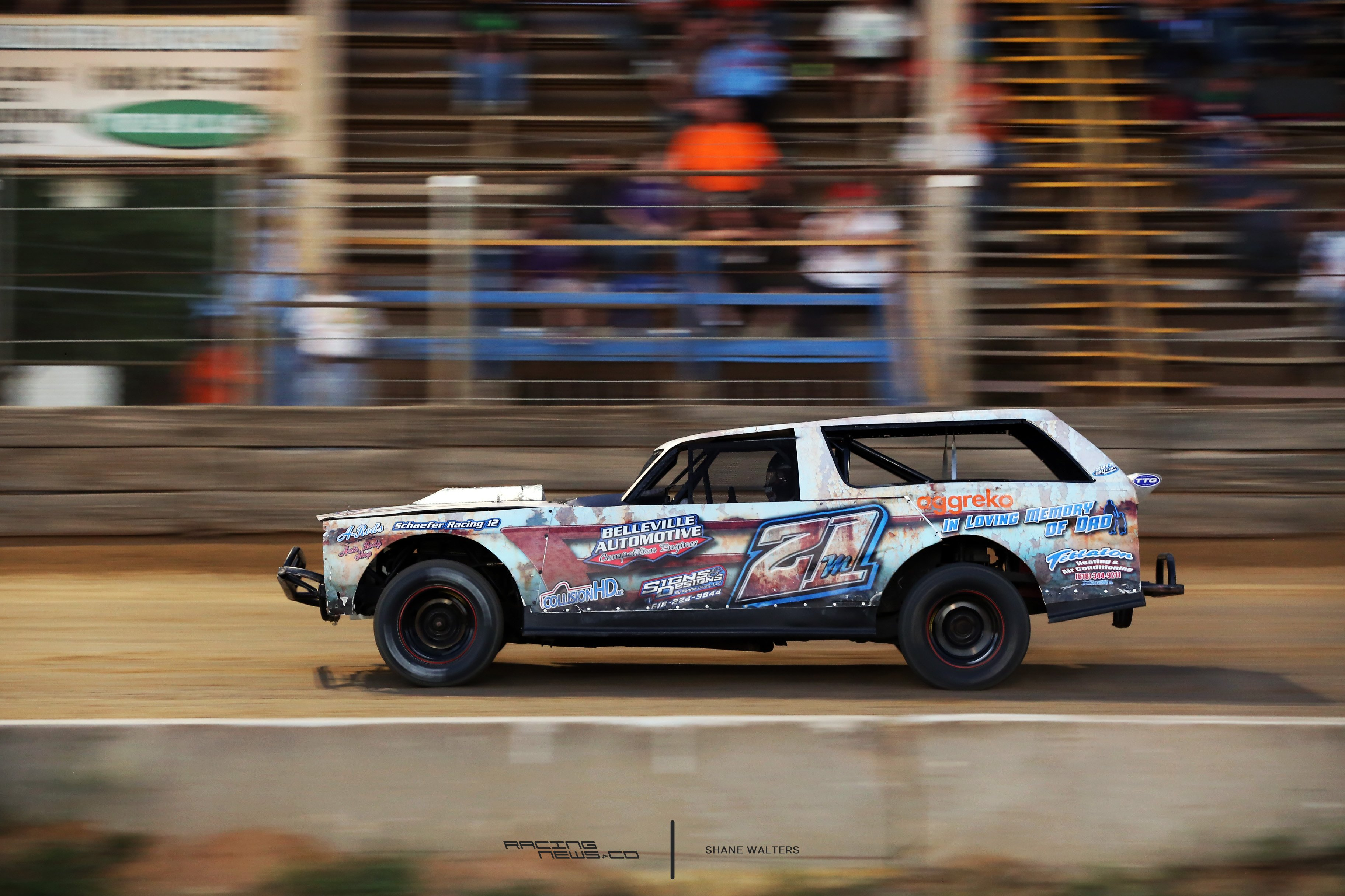 Here's an awesome rustic race car wrap - Racing News