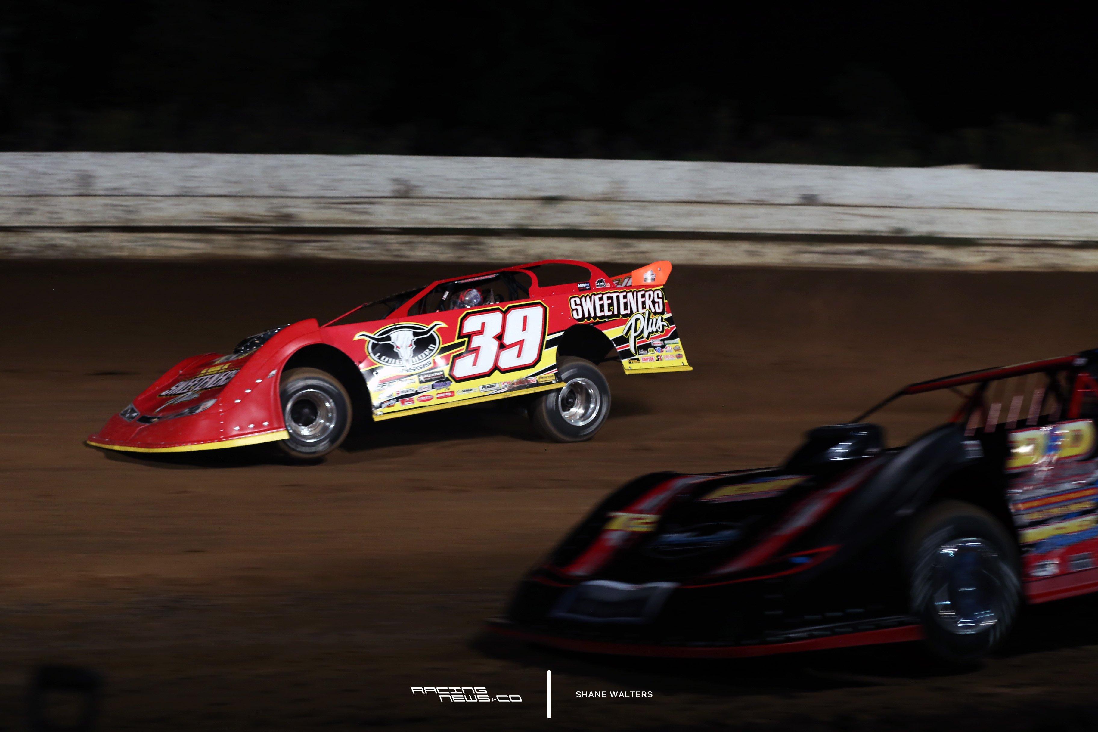Tim McCreadie and Michael Norris at PA Motor Speedway 9037