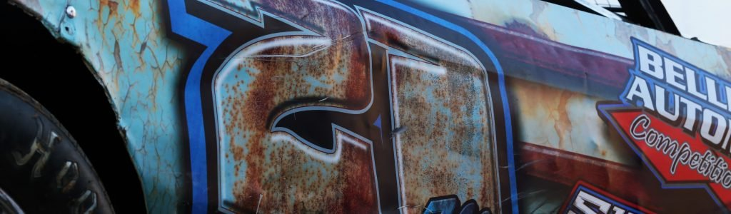 Here's an awesome rustic race car wrap