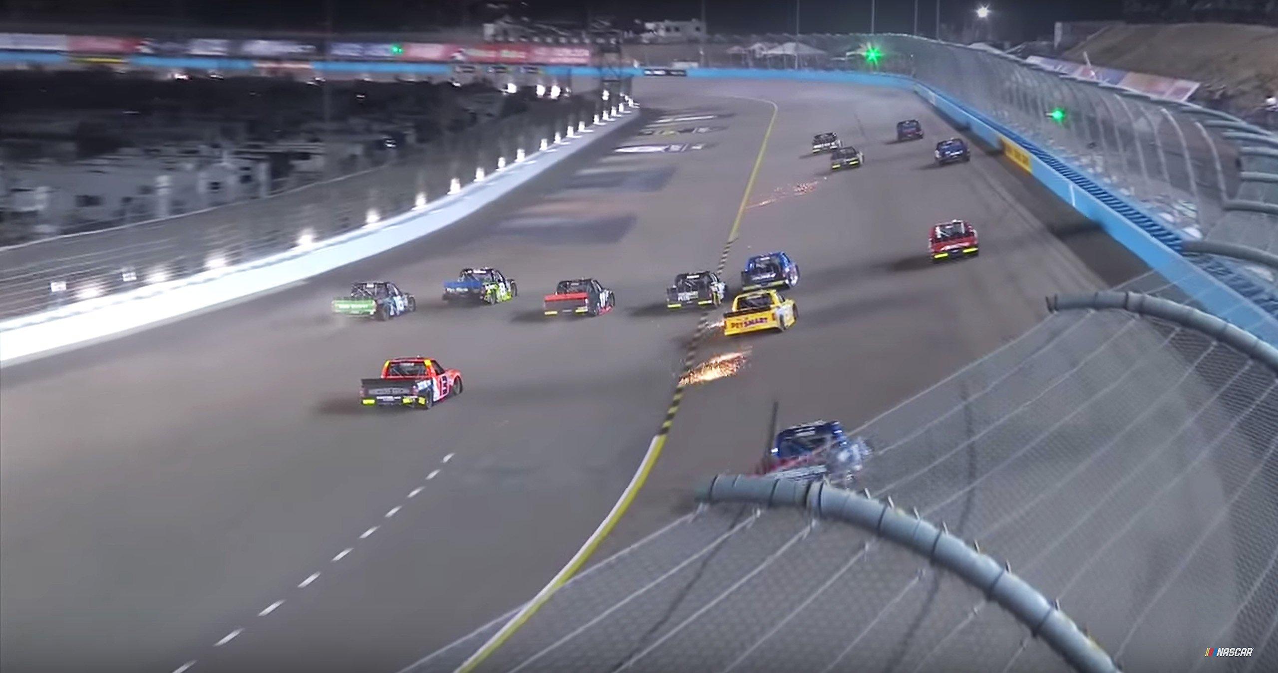 5 wide at Phoenix International Raceway