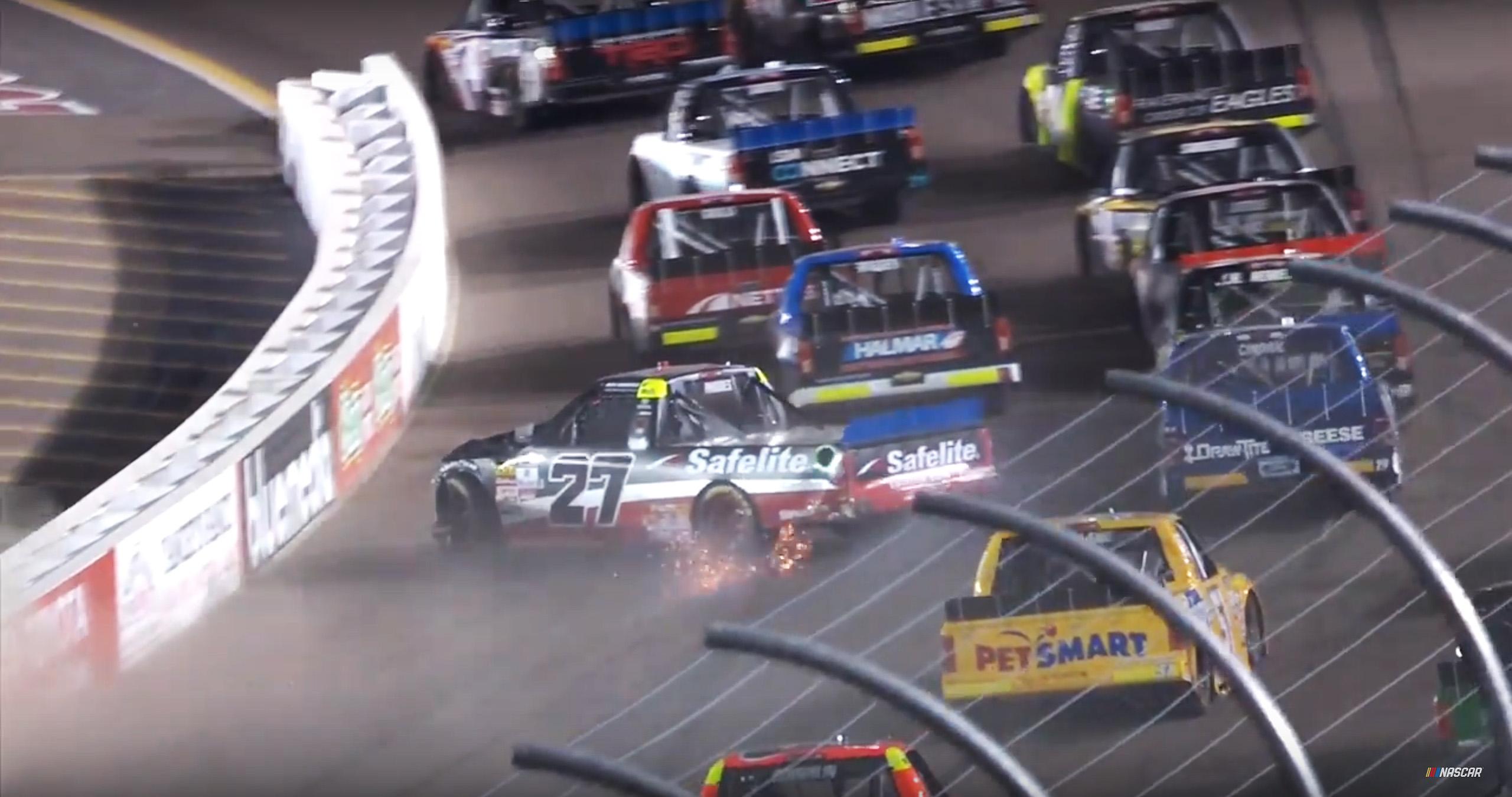 Ben Rhodes - NASCAR Truck Series crash at Phoenix Raceway