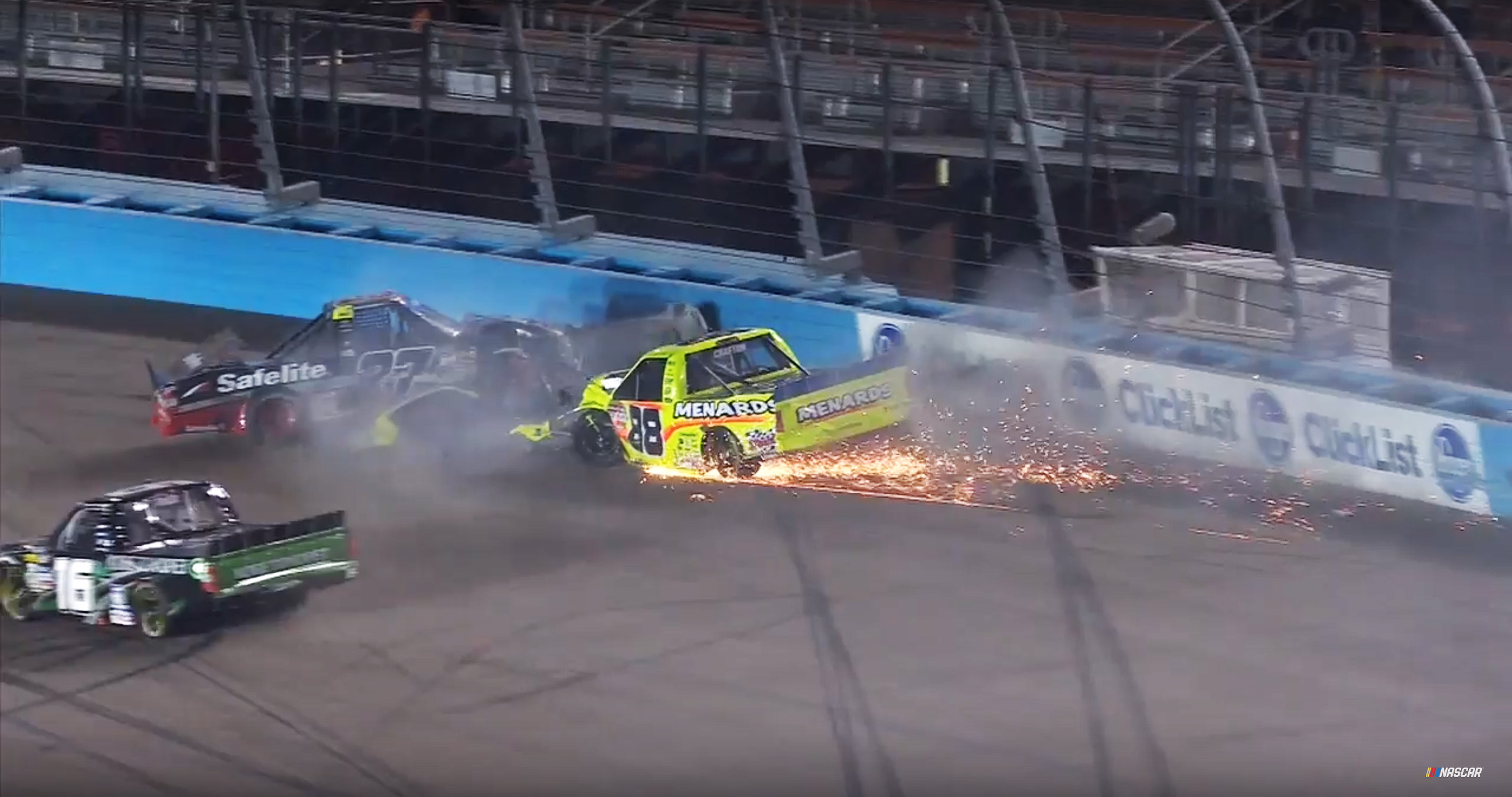 Ben Rhodes and Matt Crafton - Phoenix Raceway crash