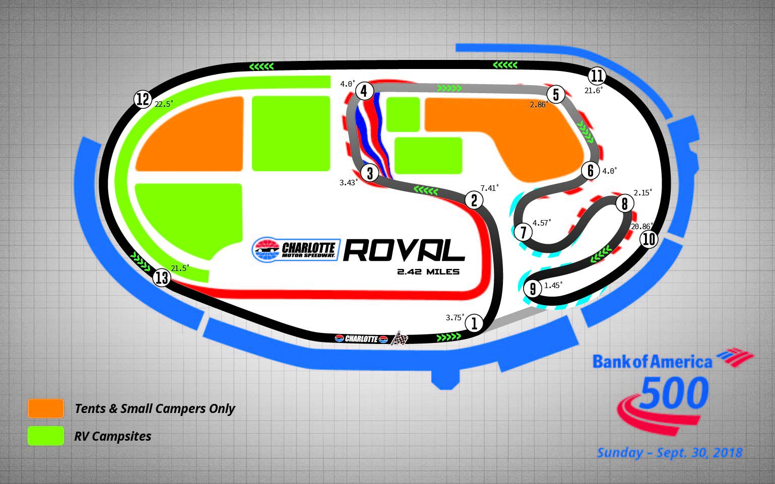 Charlotte roval layout could be adjusted racing news for Map of charlotte motor speedway