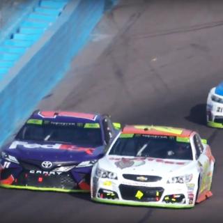Chase Elliott and Denny Hamlin at Phoenix Raceway