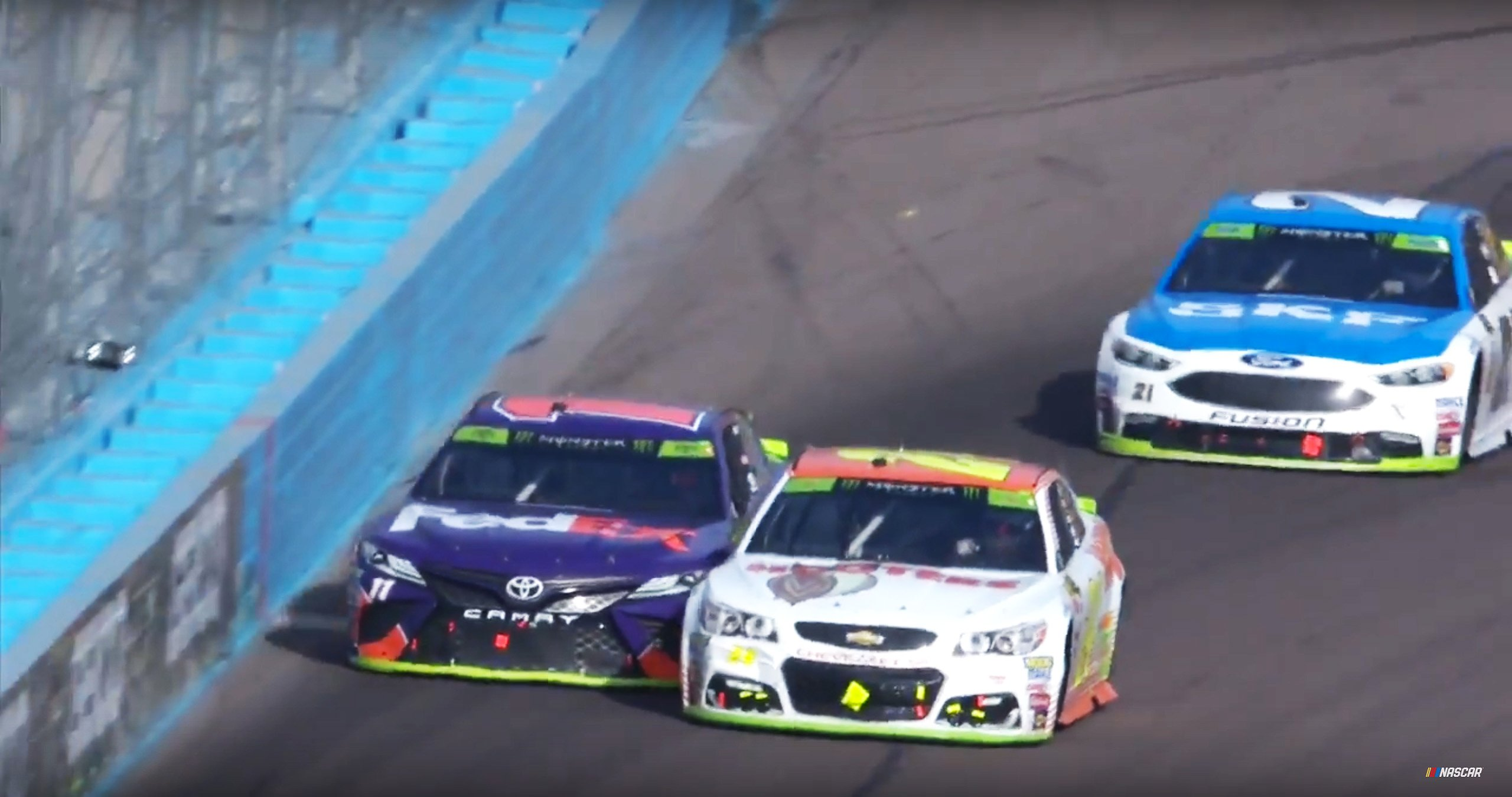 Chase Elliott and Denny Hamlin at Phoenix Raceway