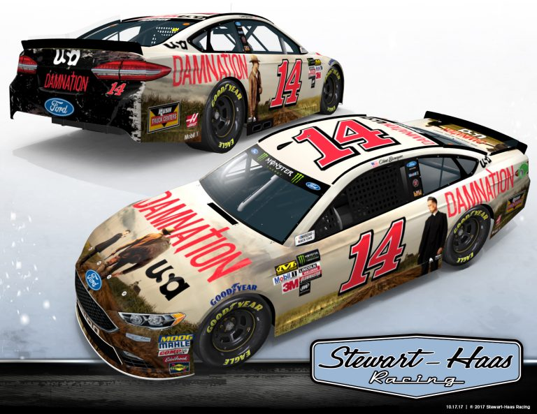 Clint Bowyer Damnation NASCAR race car