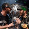 Cole Pearn and Martin Truex Jr