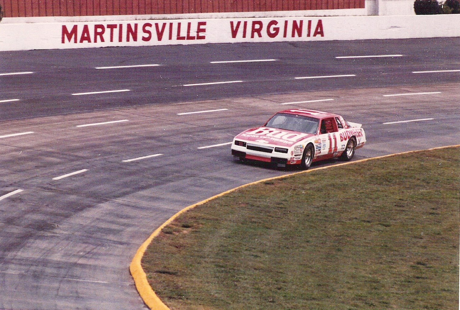 Darrell Waltrip Budweiser race car at Martinsville Speedway