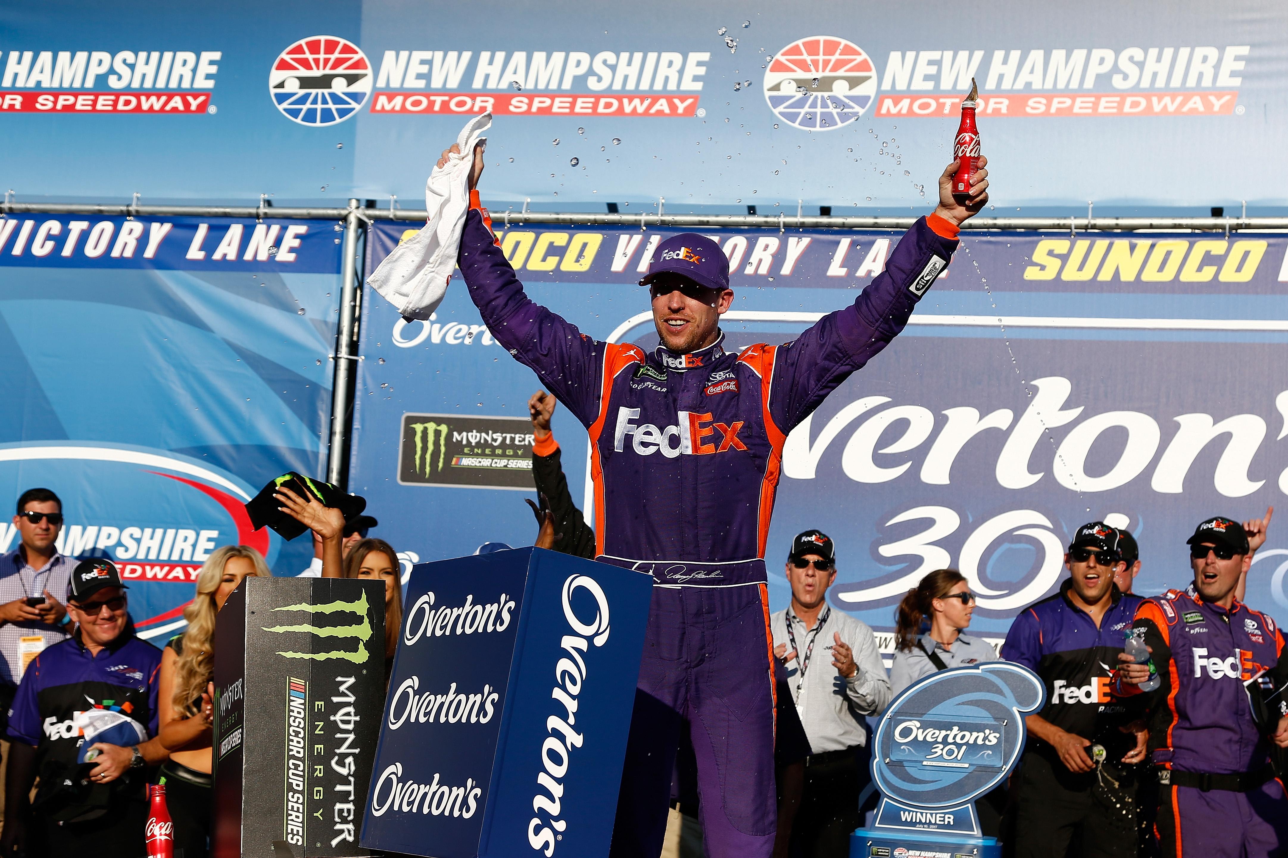 Denny Hamlin wins at NHMS