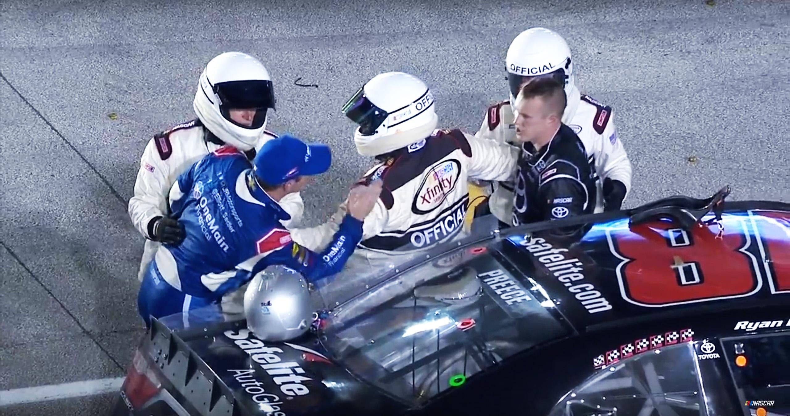 Elliott Sadler and Ryan Preece at Homestead-Miami Speedway
