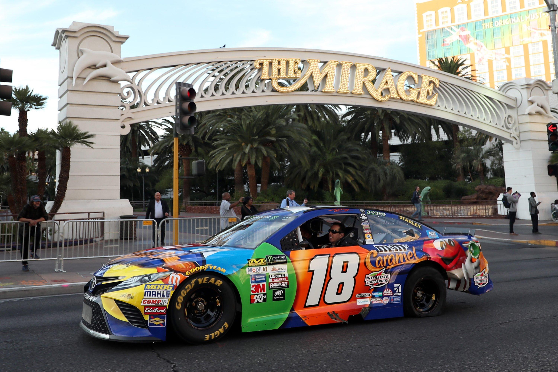 Kyle Busch at Champions Week in Las Vegas