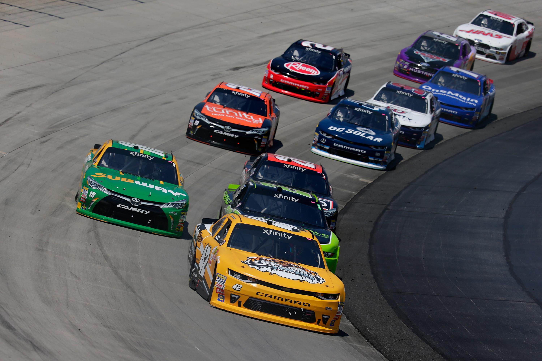 Kyle Larson wins in the NASCAR Xfinity Series