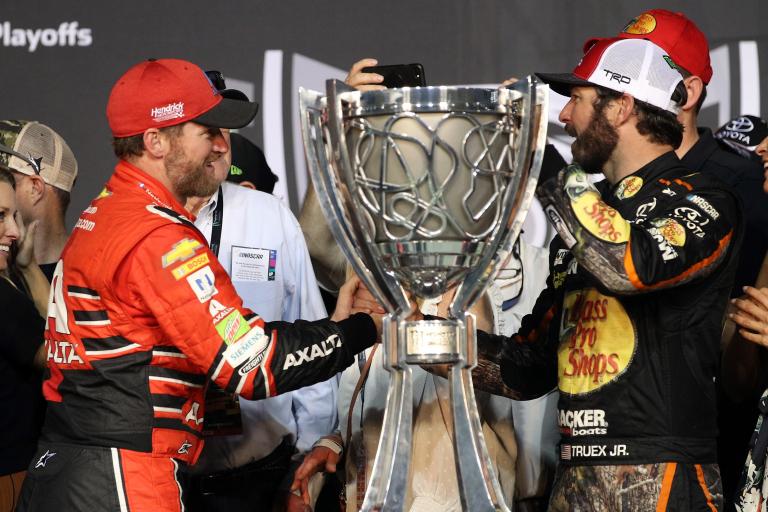 Martin Truex Jr and Dale Earnhardt Jr - 2017 Monster Energy NASCAR Cup Series Champion