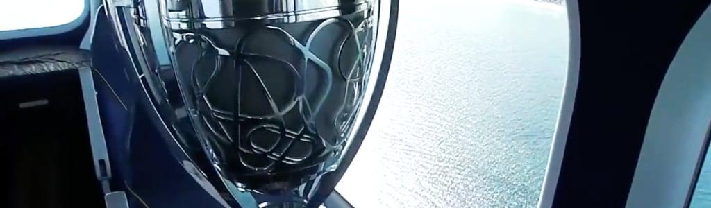 Goodyear Blimp transports 2017 NASCAR Championship trophies