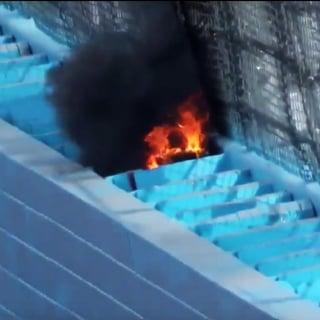 Phoenix Raceway Wall fire