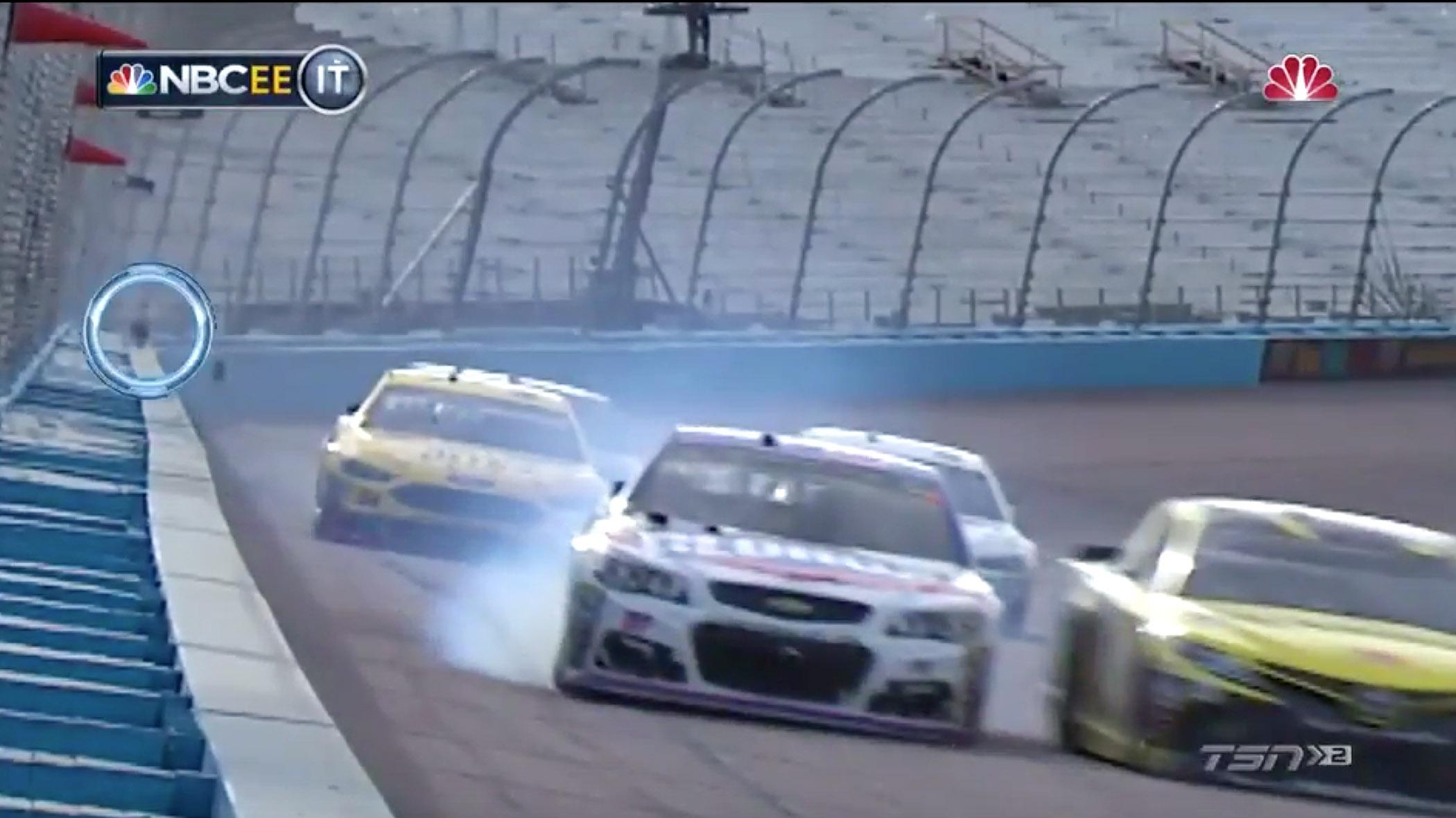 Phoenix Raceway safer wall fire