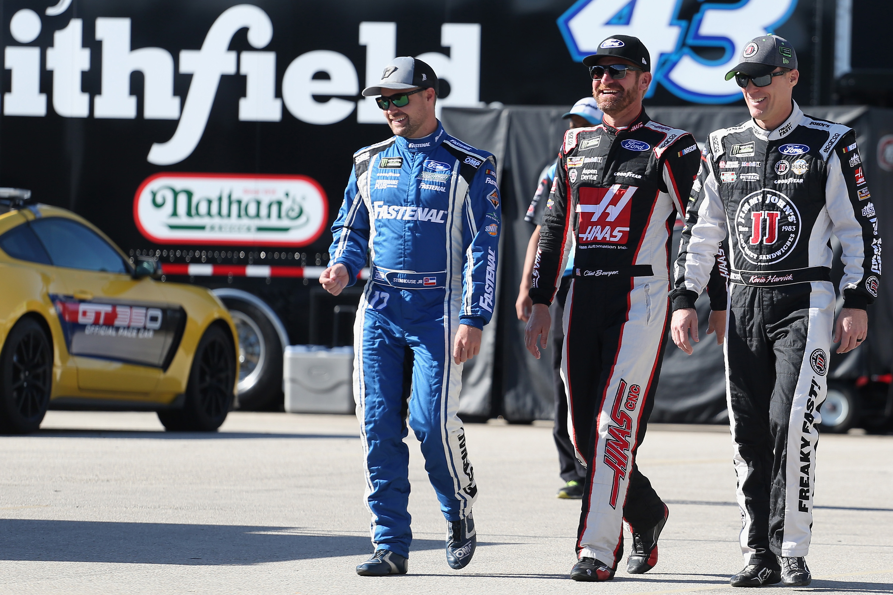 Ricky Stenhouse Jr, Clint Bowyer, Kevin Harvick