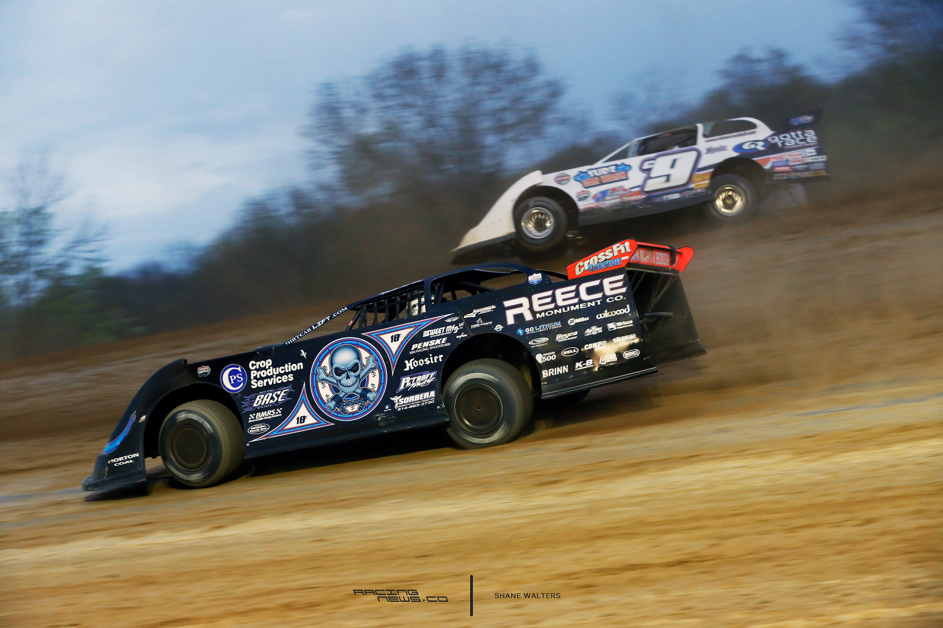 Scott Bloomquist and Steve Casebolt at Atomic Speedway for the LOLMDS event