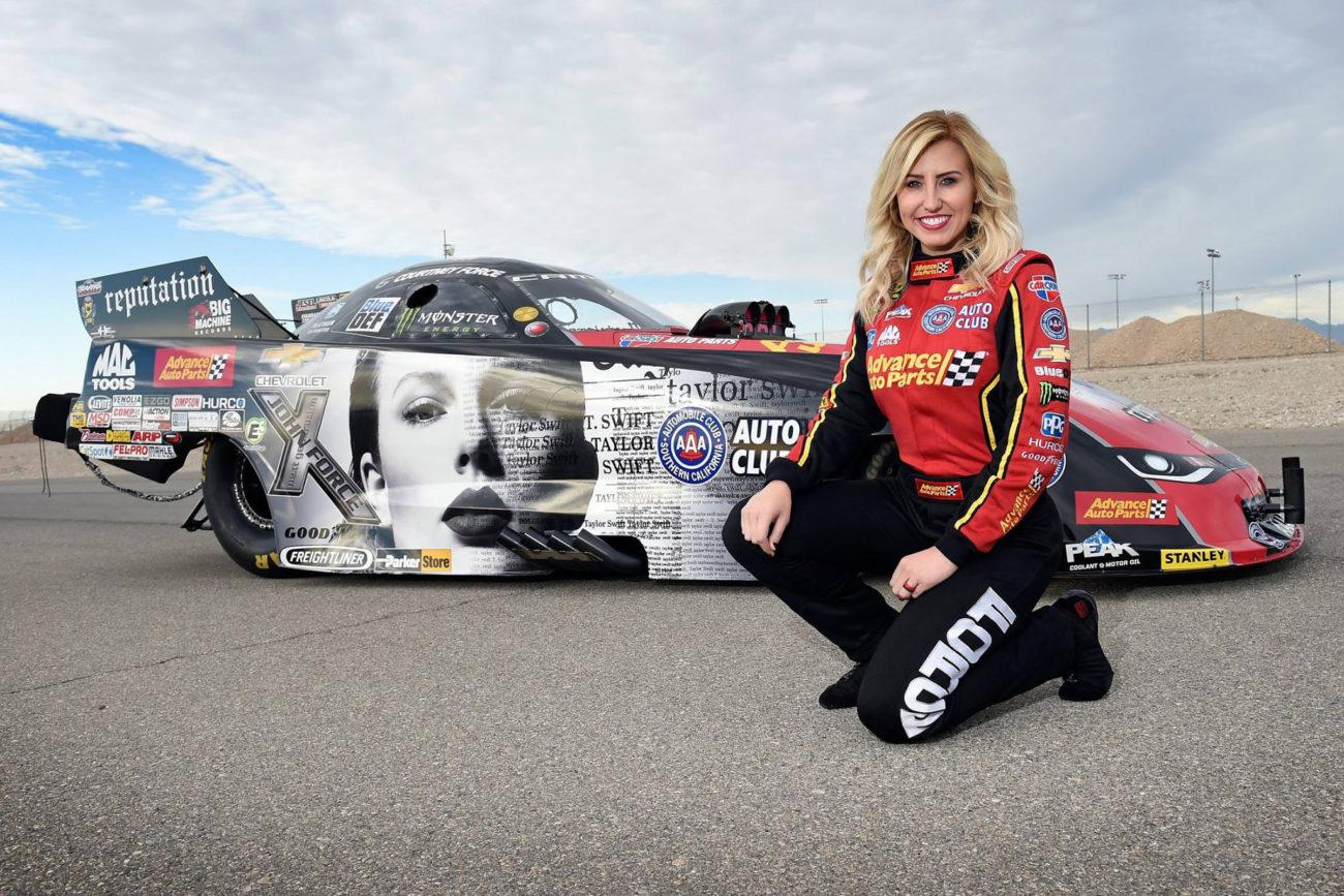 Taylor Swift Drag Racing car - Courtney Force NHRA