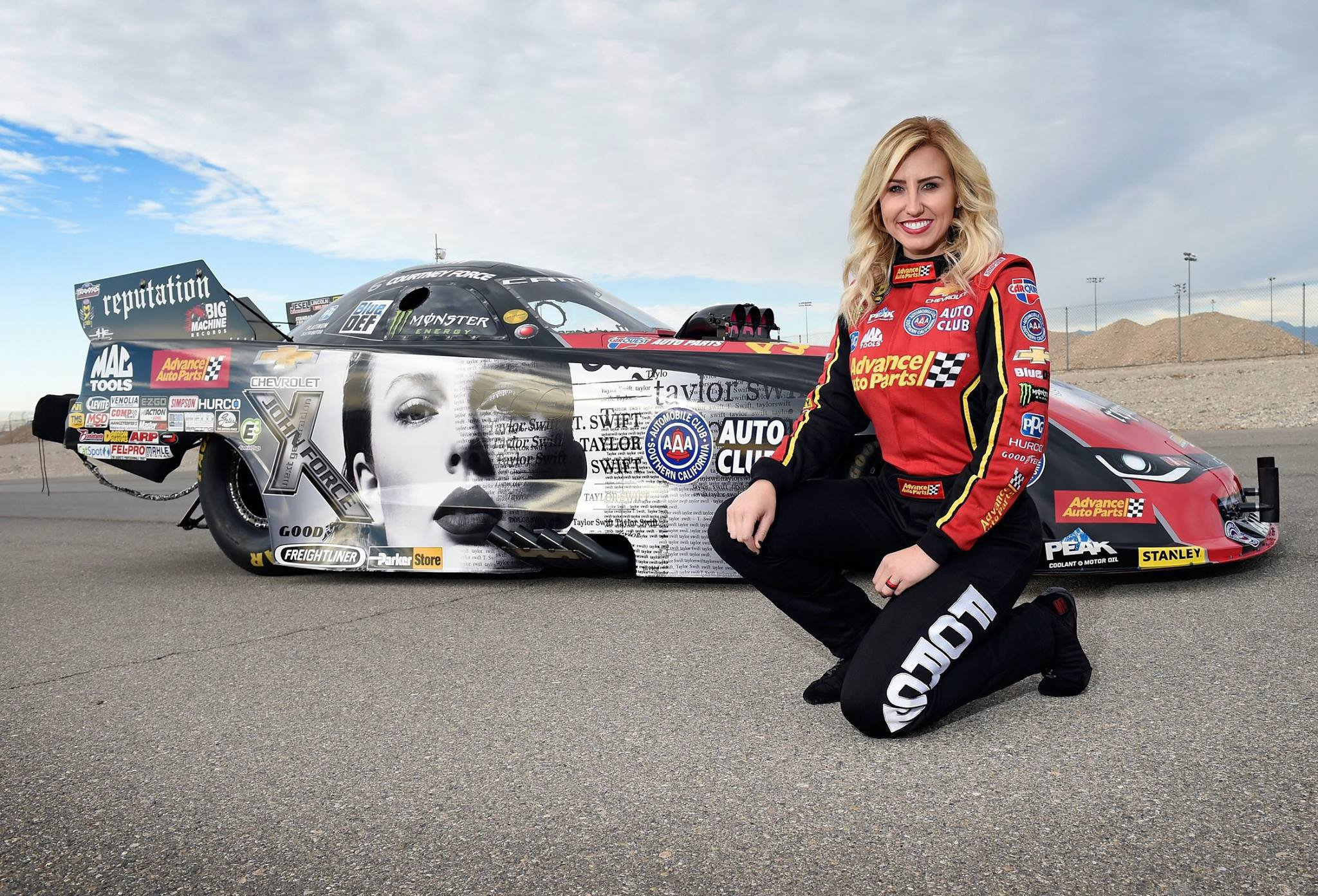 Taylor Swift Drag Racing car - Courtney Force NHRA