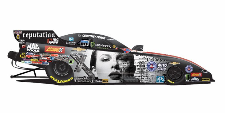 Taylor Swift race car