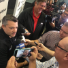 Tony Stewart speaks to the media at Stewart-Haas Racing