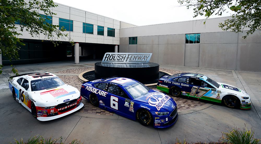 2017 Roush Fenway Racing throwback cars for Darlington Raceway