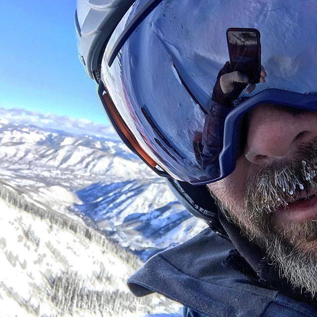 Jimmie Johnson Skiing
