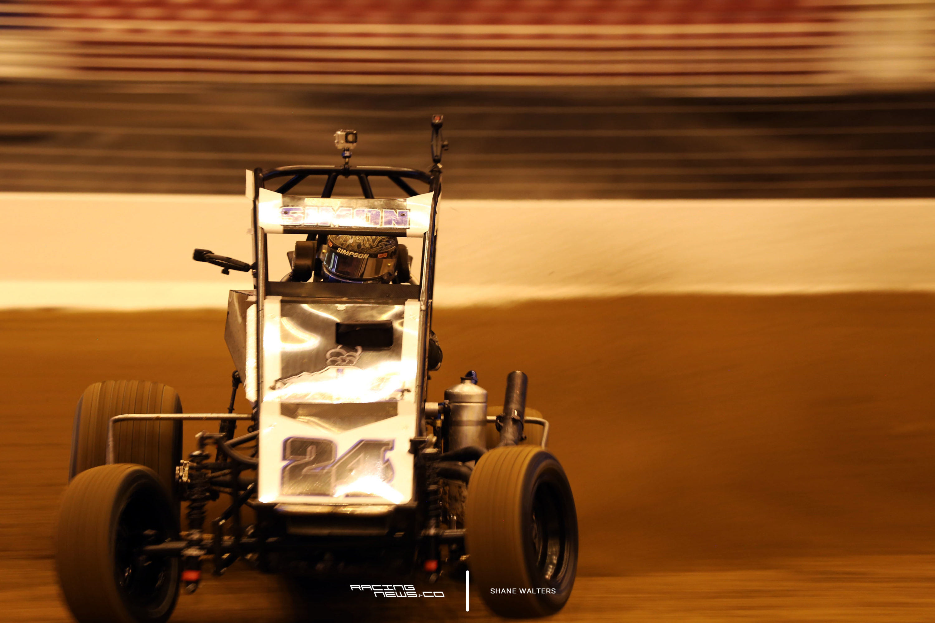 Landon Simon in the midget test at the Gateway Dirt Nationals 2472