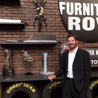 Martin Truex Jr in The Showroom at Furniture Row
