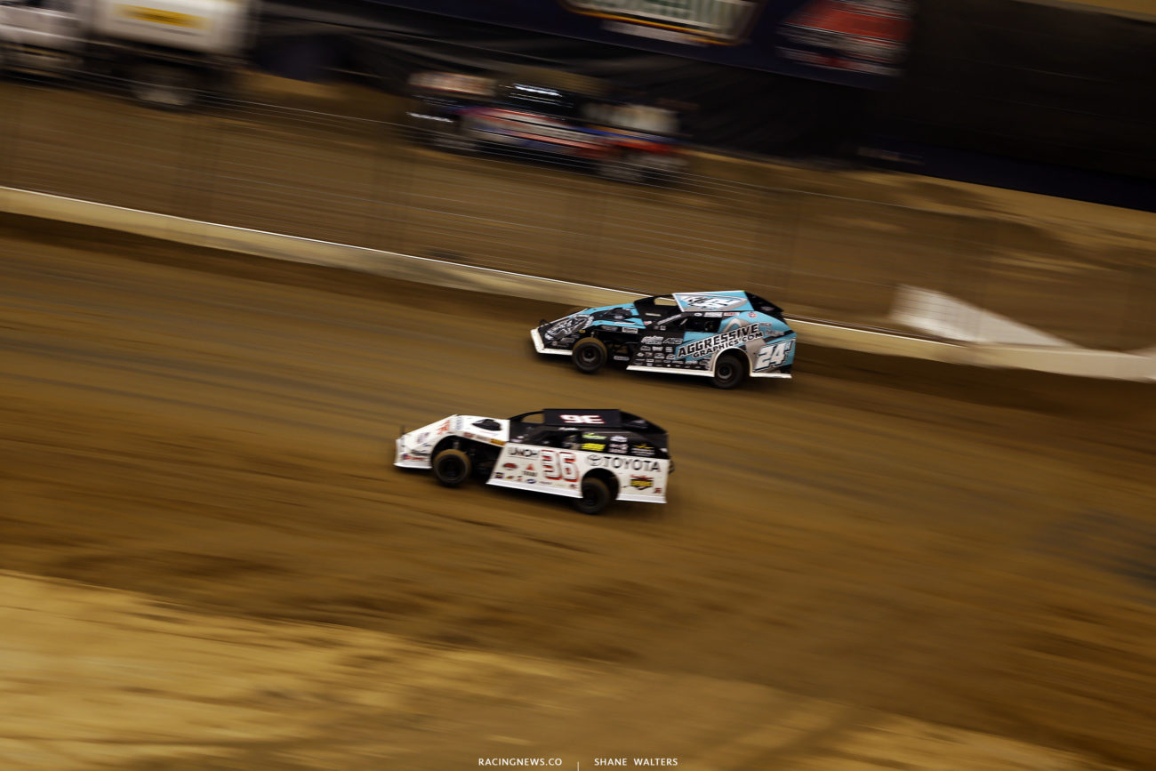 Mike Harrison and Kenny Wallace at the Gateway Dirt Nationals 5114