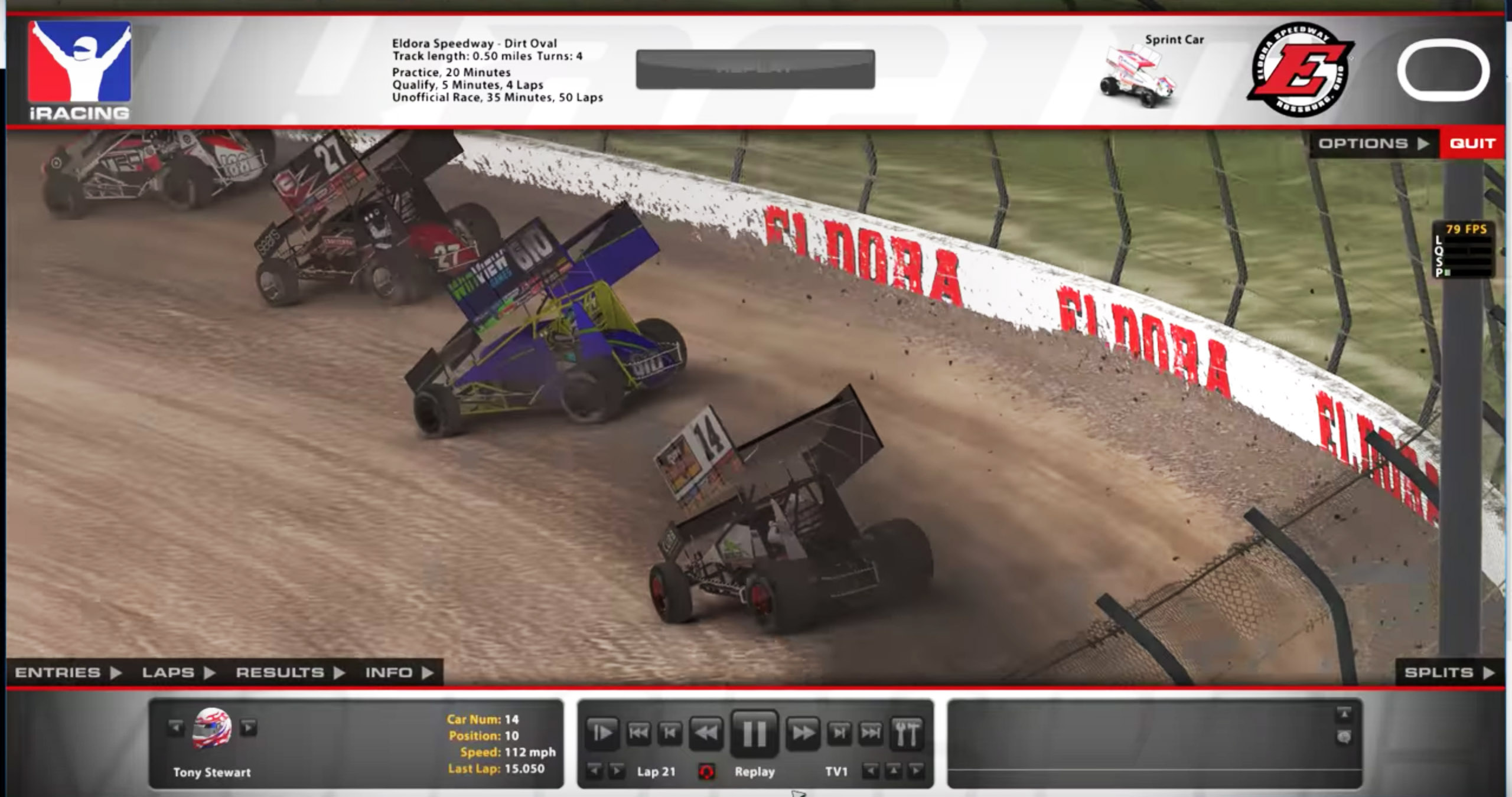 Tony Stewart Sprint Car - iRacing