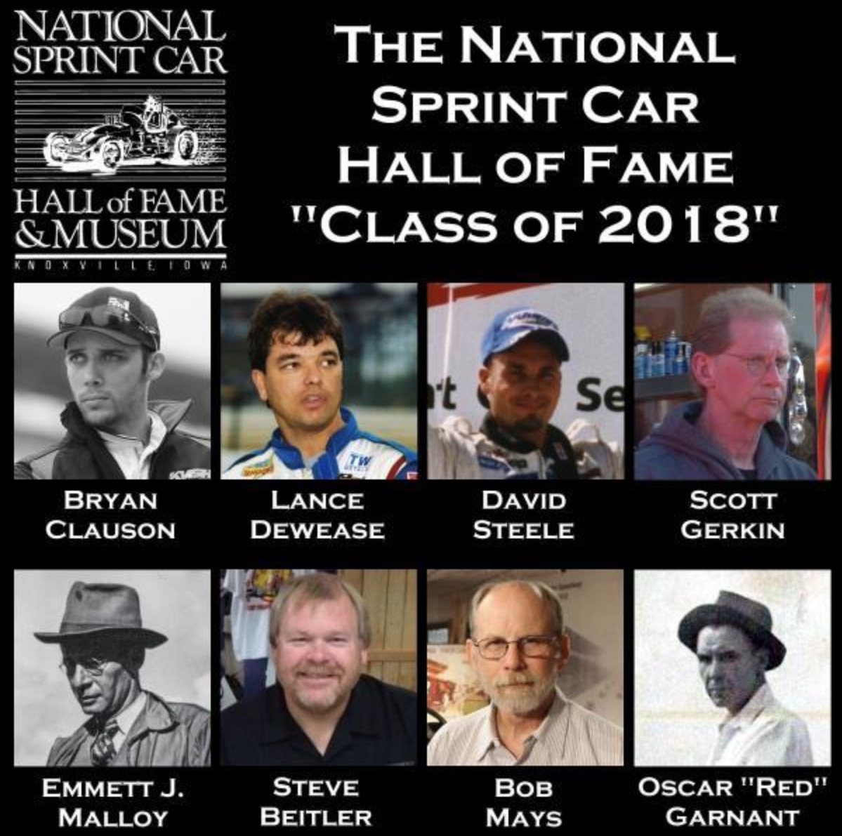 2018 National Sprint Car Hall of Fame class