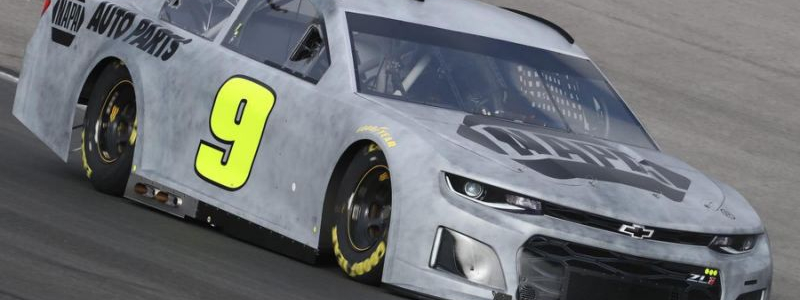 Chase Elliott puts the 2018 Camaro on track for the first time