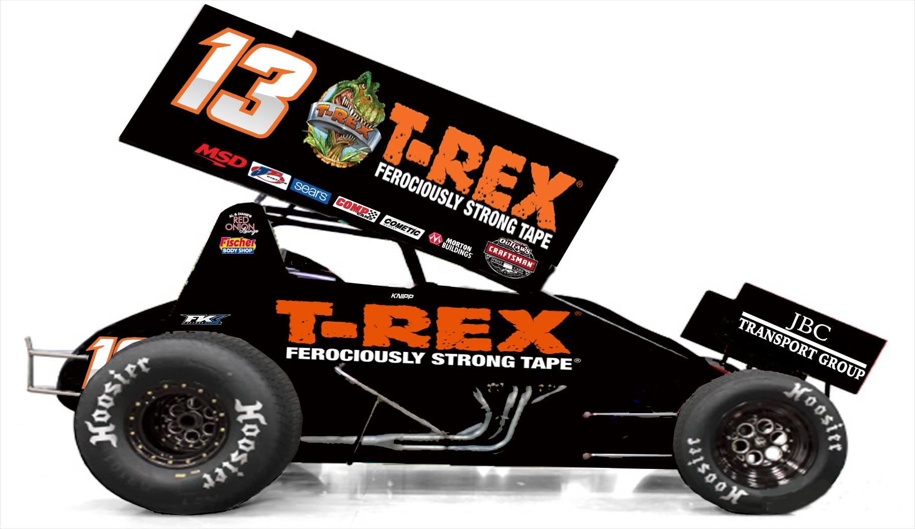 Clyde Knipp Racing #13 T-Rex Sprint Car