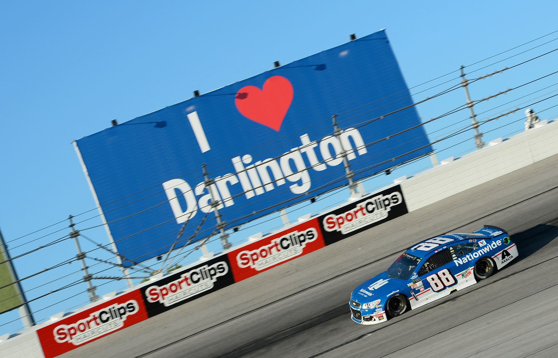 Dale Earnhardt Jr at Darlington Raceway