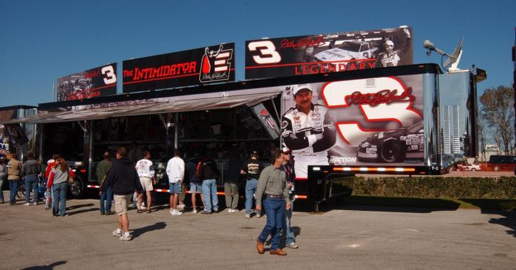 Dale Earnhardt Sr - NASCAR Merchandise trailer
