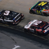 Dale Earnhardt Sr and Jeff Gordon at Bristol Motor Speedway