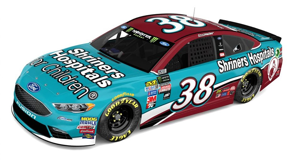 David Ragan 2018 paint scheme - Shriners Hospital