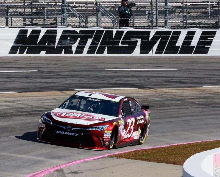 David Ragan in the BK Racing #23 at Martinsville Speedway - NASCAR