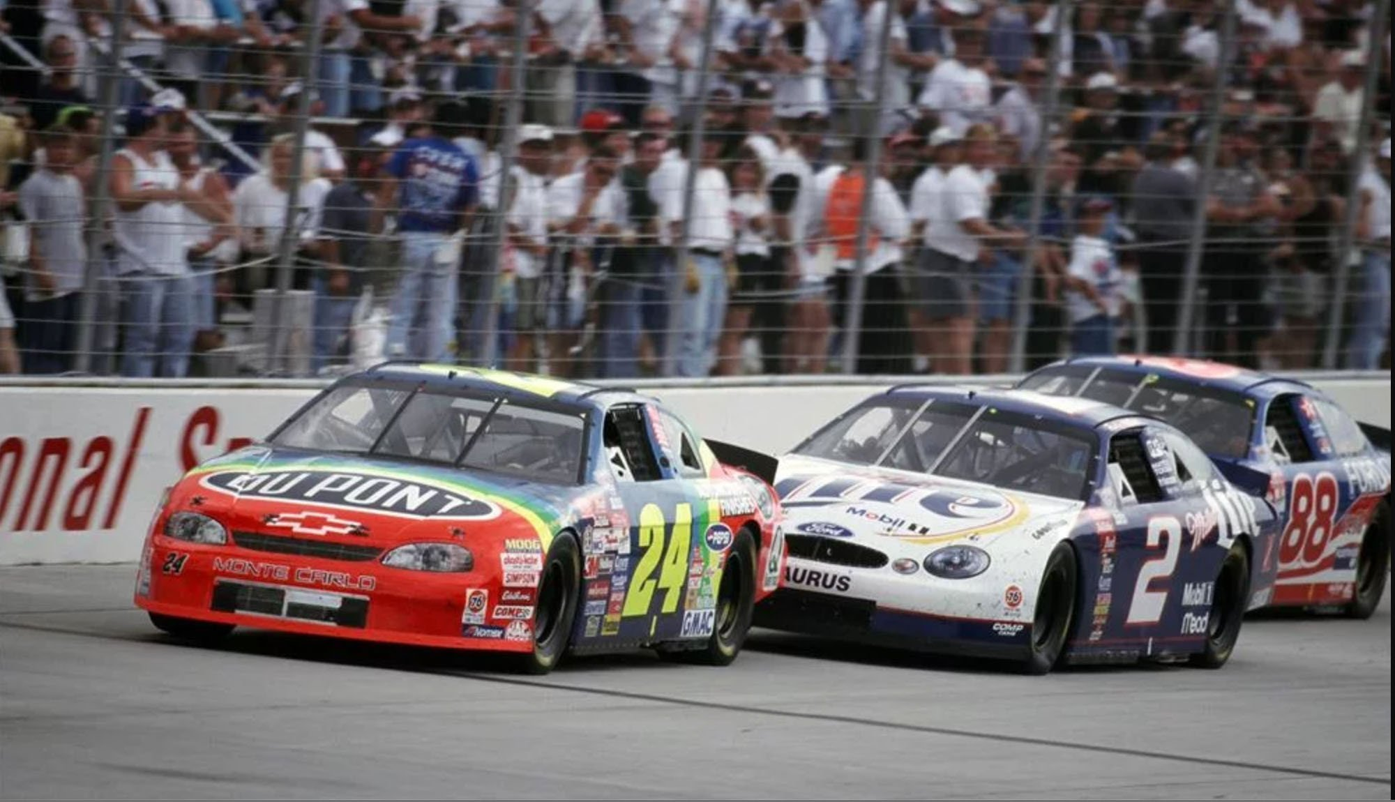 1998 Jeff Gordon, Rusty Wallace, Dale Jarrett