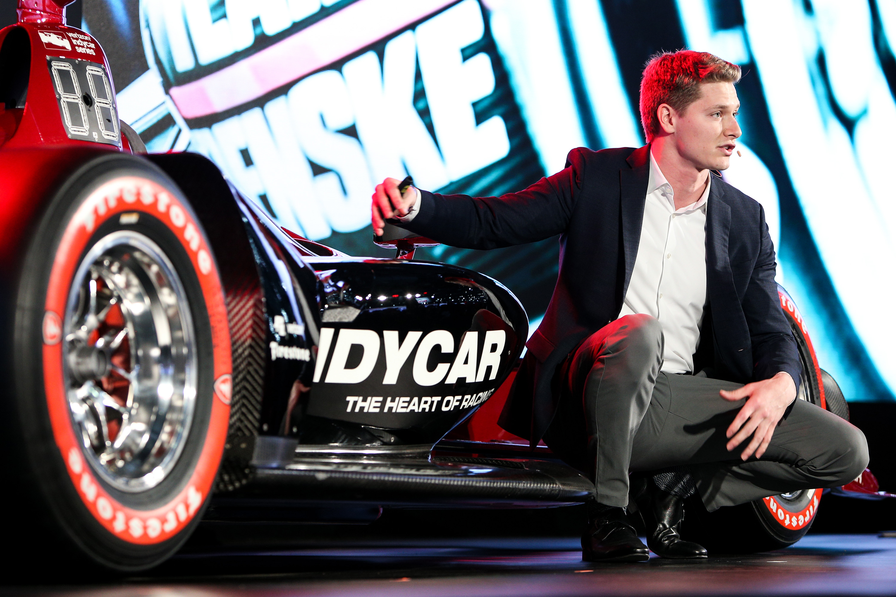 Josef Newgarden debuts the 2018 Indycar Chassis