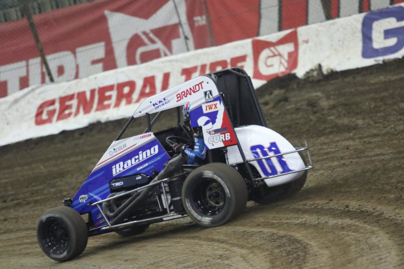 Kyle Larson at the 2018 Chili Bowl Nationals