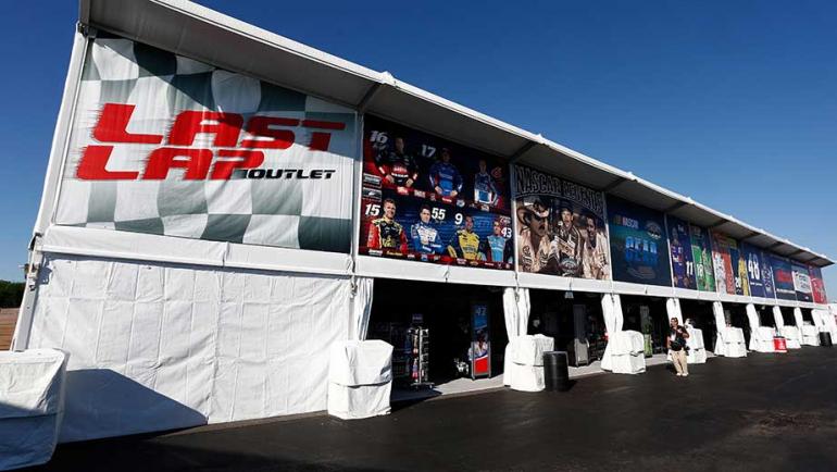 NASCAR Merchandise Tent