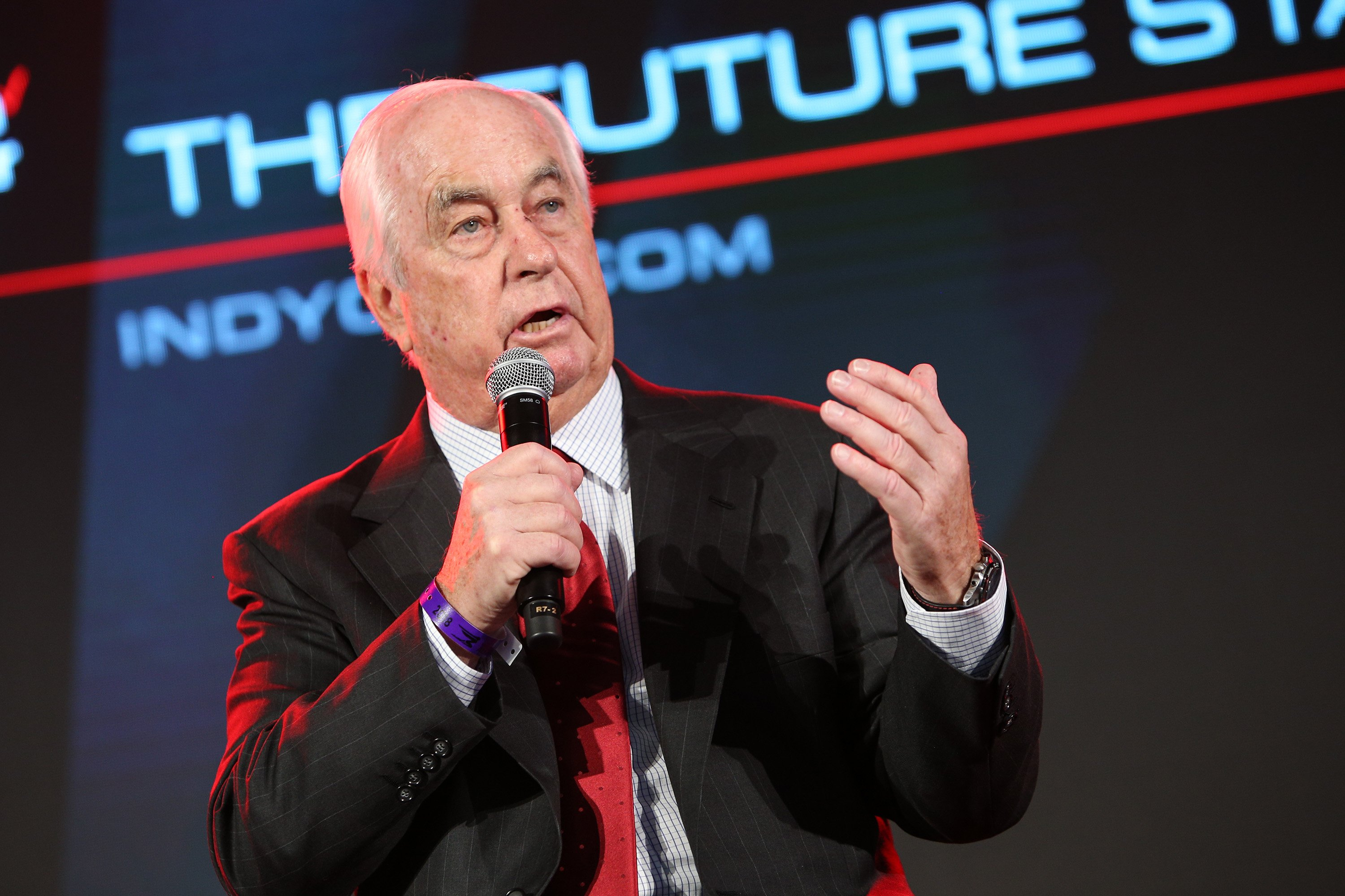 Roger Penske at the 2018 Indycar launch