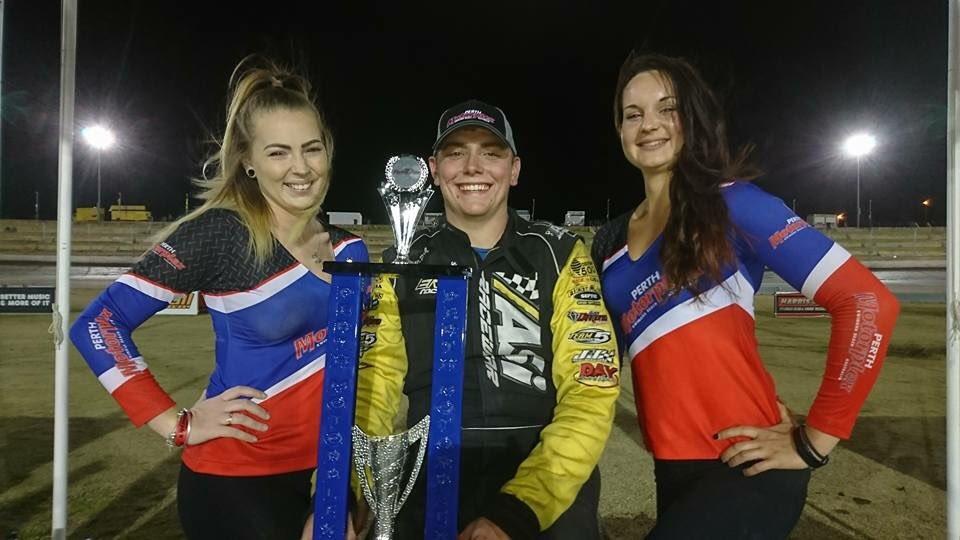 Tyler Erb in Australian victory lane